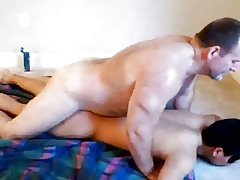 BIG hairy BEAR old DAD fuck YOUNG masked BOY's ass DEEP